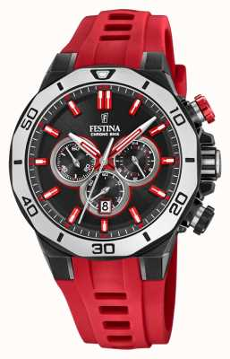 Festina Chrono Bike 2019 | Red Rubber Strap | Black Dial F20450/3