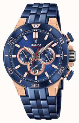 Festina Chrono Bike 2019 Special Edition | Blue IP Bracelet F20452/1