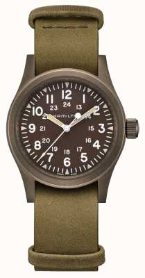 Hamilton | Khaki Field Mechanical | Brown Dial | Leather Strap | H69449861