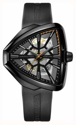 Hamilton | Ventura Skeleton Auto | Black Rubber Strap | Black Case | H24595331