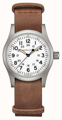 Hamilton | Khaki Field Mechanical | White Dial | Brown Leather Strap H69439511