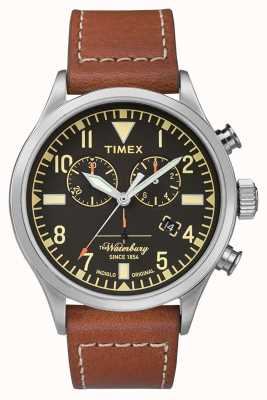 Timex X Red Wing | Waterbury | Chrono | Black Dial | Brown Leather TW2P84300