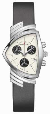 Hamilton | Ventura Quartz | Silver Dial | Black Leather Strap | H24432751