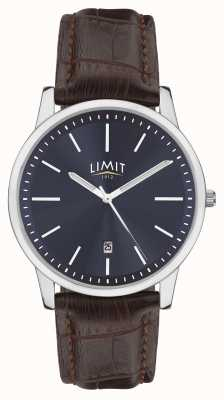 Limit | Mens Brown Leather Strap | Blue Dial | Silver Case | 5745.01