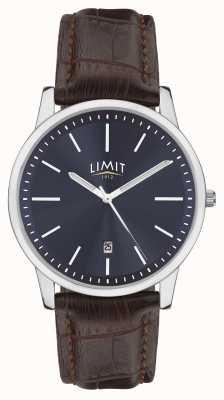 Limit | Mens Brown Leather Strap | Blue Dial | Silver Case | 5745.01