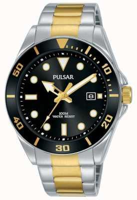 Pulsar | Casual Sport | Stainless Steel Bracelet | Black Dial | PG8295X1