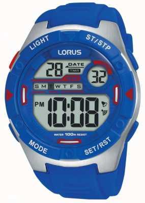 Lorus | Mens Sports Digital | Blue Rubber Strap | R2301NX9
