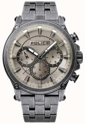 Police | Mens Taman | Stainless Steel Bracelet | Gunmetal Grey Dial 15920JSQU/20M