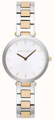 Rebecca Minkoff Womens Nina | Two-Tone Stainless Steel | Silver/White Dial | 2200279
