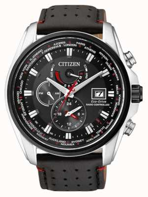 Citizen | Mens Eco-Drive World Time A.T | Black Strap | Black Dial | AT9030-04E