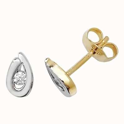 Treasure House 9k Yellow Gold Cubic Zirconia Stud Earrings ER098