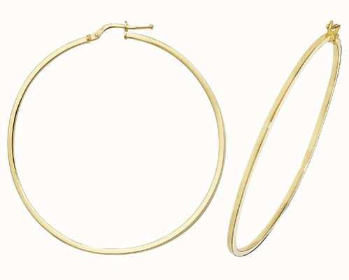Treasure House 9k Yellow Gold Hoop Earrings 50 mm ER1007-50