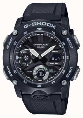 Casio | G-Shock Carbon Core Guard | Black Rubber Strap | GA-2000S-1AER