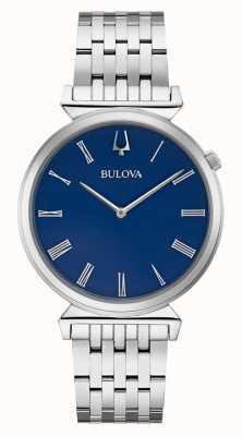 Bulova | Mens | Stainless Steel Bracelet | Blue Dial | 96A233