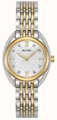 Bulova Womens Classic Diamond | Two Tone Stainless Steel Bracelet 98R229