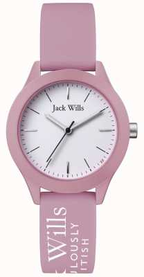Jack Wills | Womens Union | White Dial | Pink Silicone Strap | JW008PKWH