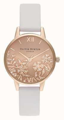 Olivia Burton | Womens | Bejewelled Lace | Stone Blush Leather Strap | OB16MV102