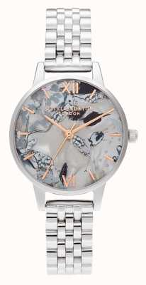 Olivia Burton | Womens | Abstract Florals Dial | Steel Bracelet | OB16VM38