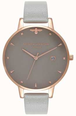 Olivia Burton | Womens | Queen Bee | Grey Leather Strap | OB16AM87