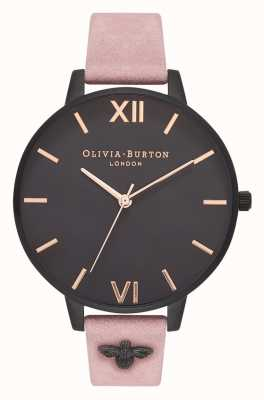 Olivia Burton | Womens | 3D Bee | Embellished Rose Suede Strap | OB16ES09