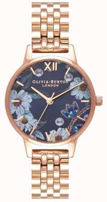 Olivia Burton | Womens | Bejewelled Florals | Rose Gold Bracelet | OB16BF17