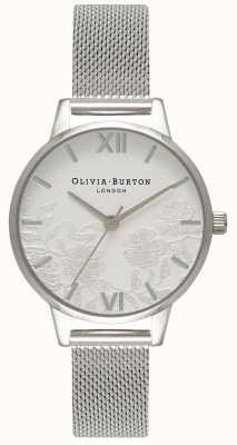 Olivia Burton   Womens   Lace Detail   Stainless Steel Mesh Bracelet   OB16MV54