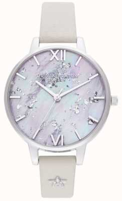 Olivia Burton | Womens | Celestial Star | Silver Leather Strap | OB16GD42