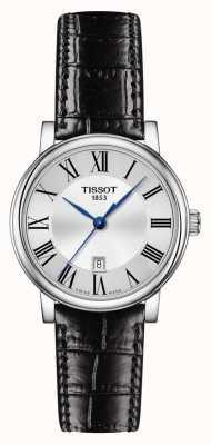 Tissot | Carson Classic | Black Leather Strap | Silver Dial | T1222101603300