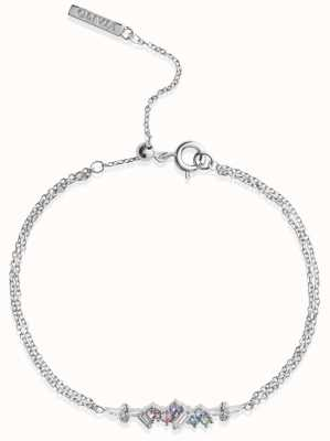 Olivia Burton | Rainbow Bee | Swarovski Crystals | Silver | Bracelet | OBJAMB81