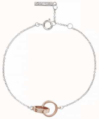 Olivia Burton | The Classics | Silver Rose | Interlink Circle | Bracelet | OBJENB15B