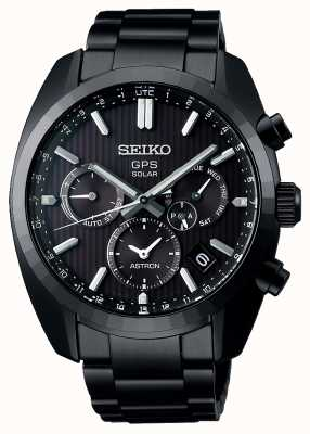 Seiko Limited Edition 50th Anniversary Astron Solar GPS Black PVD Plated SSH023J1