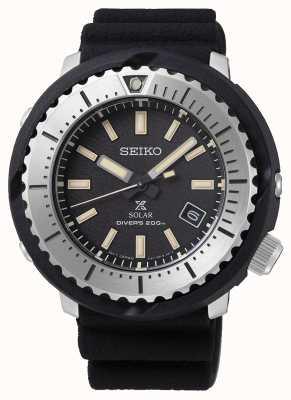 Seiko Prospex Solar Men's Black Dial Diver's 200m Black Strap Silv SNE541P1
