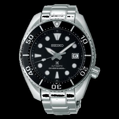 Seiko Men's Prospex Automatic Sumo Stainless Steel Bracelet Black Dial SPB101J1