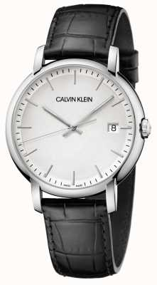 Calvin Klein | Mens Established | Black Leather Strap | White Dial | K9H211C6
