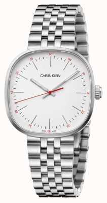 Calvin Klein   Mens Stainless Steel Bracelet   Silver Square Dial   K9Q12136