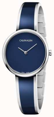 Calvin Klein | Womens Seduce | Stainless Steel Blue Resin Bracelet | K4E2N11N