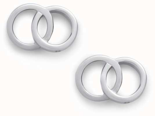 Olivia Burton | The Classics | Silver | Interlink Earrings | OBJCOE71