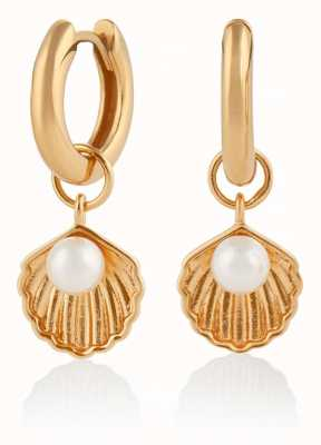 Olivia Burton | Under The Sea | Gold | Huggie Hoop Shell Earrings | OBJSCE05