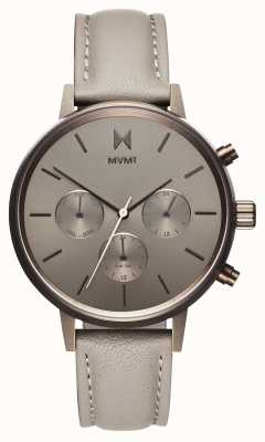 MVMT Nova Lyra | Grey Leather Strap | Grey Dial D-FC01-TITA