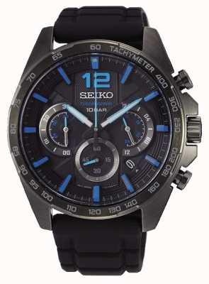 Seiko   Neo Sports   Mens   Black Chronograph   Black Strap   SSB353P1