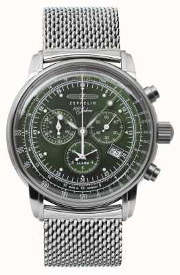 Zeppelin Series 100 Years | Chronograph | Stainless Steel Mesh | 8680M-4