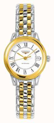 Longines | Flagship | Women's 26mm Two Tone | Swiss Automatic L42743217