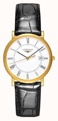 Longines Présence | 18ct Yellow Gold | Men's 34mm | Leather Strap L47776110