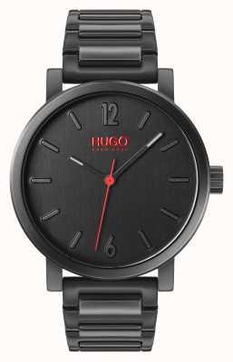 HUGO #Rase | Giftset | Keyring | Card Holder | Black IP Bracelet 1570096