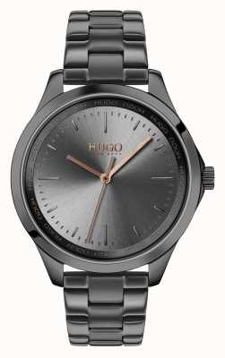 HUGO #Fearless | Grey IP Bracelet | Grey Dial 1540042