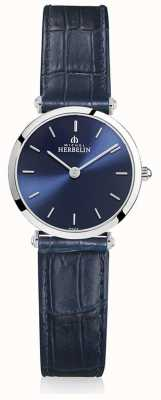 Michel Herbelin | Womens | Epsilon | Blue Leather Strap | Blue Dial | 17106/15BL