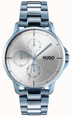 HUGO #focus | Blue IP Bracelet | Silver Dial 1530051