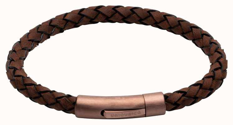 Unique & Co Dark Brown Leather | Matte Brown IP Clasp | Bracelet B441DB/21CM