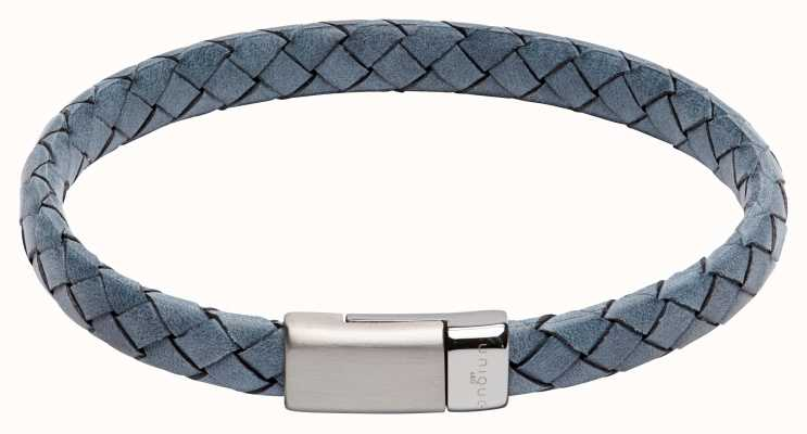 Unique & Co Blue Leather | Steel Clasp | Bracelet B446AB/21CM