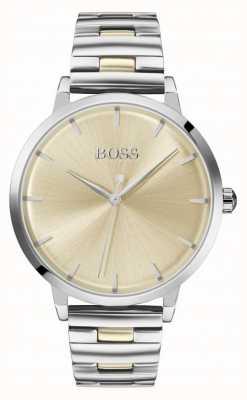 Boss | Women's Marina | Stainless Steel Bracelet | Gold Dial | 1502500